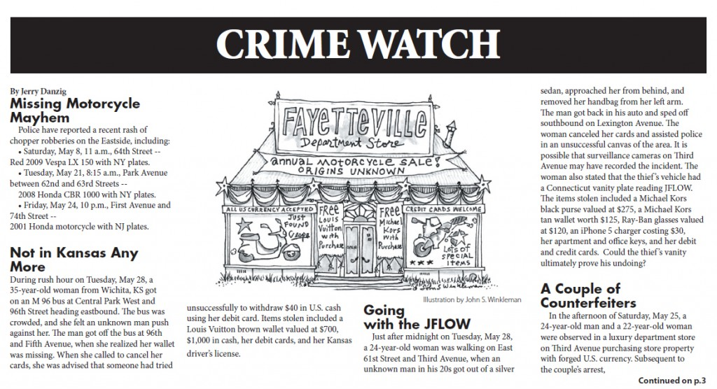 Crime Report, June 6 2013