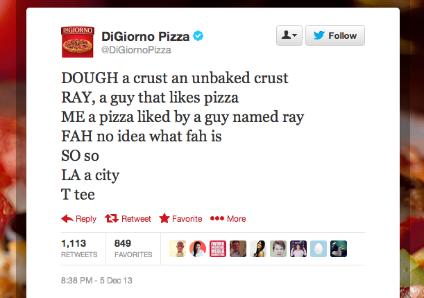 DiGiorno live tweets The Sound of Music